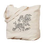 European Food Map Tote Bag