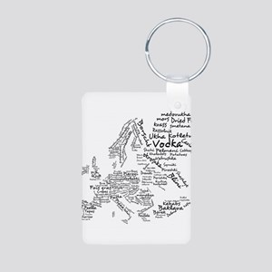 European Food Map Aluminum Photo Keychain