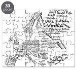 European Food Map Puzzle