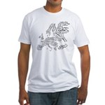 European Food Map Fitted T-Shirt