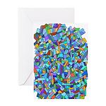 Arty Blue Mosaic Greeting Card