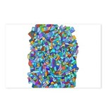 Arty Blue Mosaic Postcards (Package of 8)