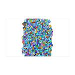Arty Blue Mosaic 38.5 x 24.5 Wall Peel