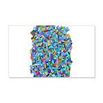Arty Blue Mosaic 22x14 Wall Peel