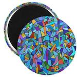 Arty Blue Mosaic 2.25
