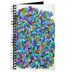 Arty Blue Mosaic Journal
