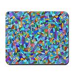 Arty Blue Mosaic Mousepad