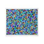 Arty Blue Mosaic Throw Blanket