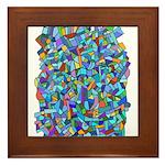 Arty Blue Mosaic Framed Tile