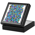 Arty Blue Mosaic Keepsake Box