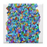 Arty Blue Mosaic Tile Coaster
