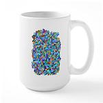 Arty Blue Mosaic Large Mug