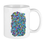 Arty Blue Mosaic Mug