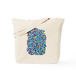 Arty Blue Mosaic Tote Bag