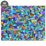 Arty Blue Mosaic Puzzle