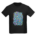 Arty Blue Mosaic Kids Dark T-Shirt