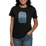 Arty Blue Mosaic Women's Dark T-Shirt