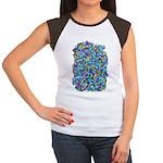 Arty Blue Mosaic Women's Cap Sleeve T-Shirt