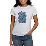 Arty Blue Mosaic Women's T-Shirt