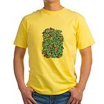 Arty Blue Mosaic Yellow T-Shirt