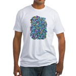 Arty Blue Mosaic Fitted T-Shirt