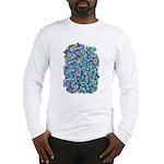 Arty Blue Mosaic Long Sleeve T-Shirt