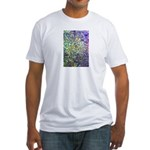 Purple and Yellow Mosaic Patt Fitted T-Shirt