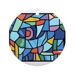 Stained Glass Pattern Ornament (Round)