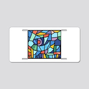 Stained Glass Pattern Aluminum License Plate