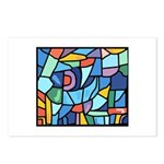 Stained Glass Pattern Postcards (Package of 8)