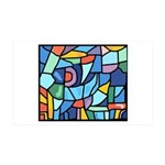 Stained Glass Pattern 38.5 x 24.5 Wall Peel