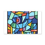 Stained Glass Pattern 22x14 Wall Peel