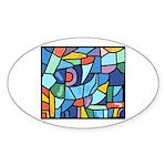 Stained Glass Pattern Sticker (Oval 50 pk)