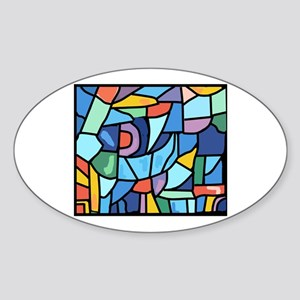 Stained Glass Pattern Sticker (Oval)