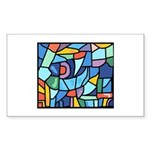 Stained Glass Pattern Sticker (Rectangle)