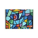 Stained Glass Pattern Rectangle Magnet