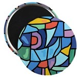 Stained Glass Pattern Magnet