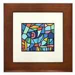 Stained Glass Pattern Framed Tile