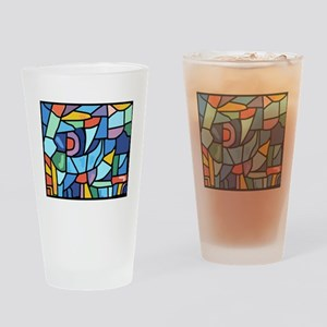 Stained Glass Pattern Drinking Glass