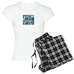 Stained Glass Pattern Women's Light Pajamas