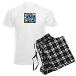 Stained Glass Pattern Men's Light Pajamas