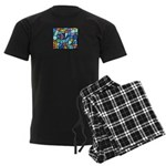 Stained Glass Pattern Men's Dark Pajamas