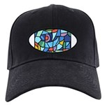 Stained Glass Pattern Black Cap
