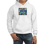 Stained Glass Pattern Hooded Sweatshirt