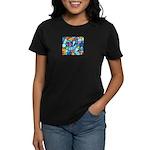 Stained Glass Pattern Women's Dark T-Shirt