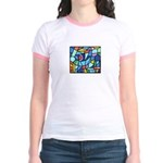 Stained Glass Pattern Jr. Ringer T-Shirt