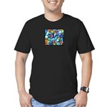 Stained Glass Pattern Men's Fitted T-Shirt (dark)