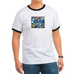 Stained Glass Pattern Ringer T