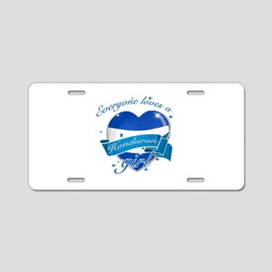I heart Honduran Designs Aluminum License Plate