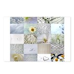 White Photography Collage Postcards (Package of 8)